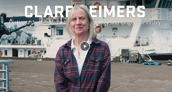 video link to intro of Clare Reimers, 2019 Distinguished Professor of Earth, Ocean and Atmospheric Sciences