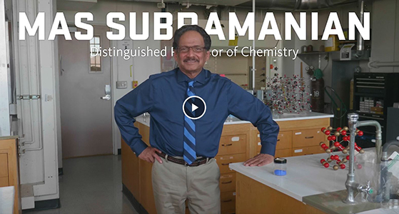 video link to introduction of Mas Subramanian, 2019 Distinguished Professor