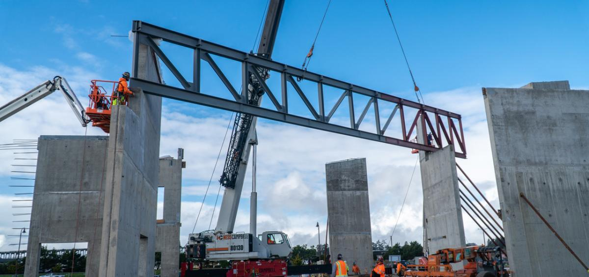 Image of construction of new Marine Studies building in Newport