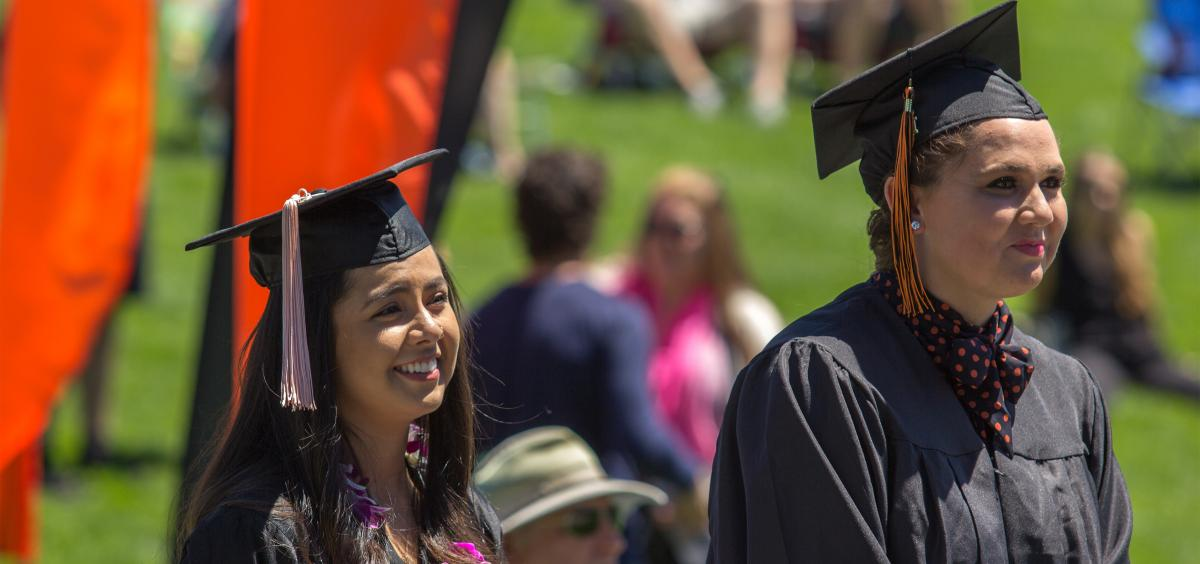students at OSU Cascades campus commencement 2019